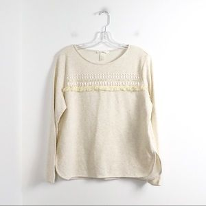 NWOT H&M Conscious embellished beaded pullover top